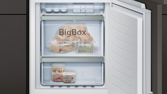 Встраиваемый холодильник с нижней морозильной камерой Neff KI8865D20R