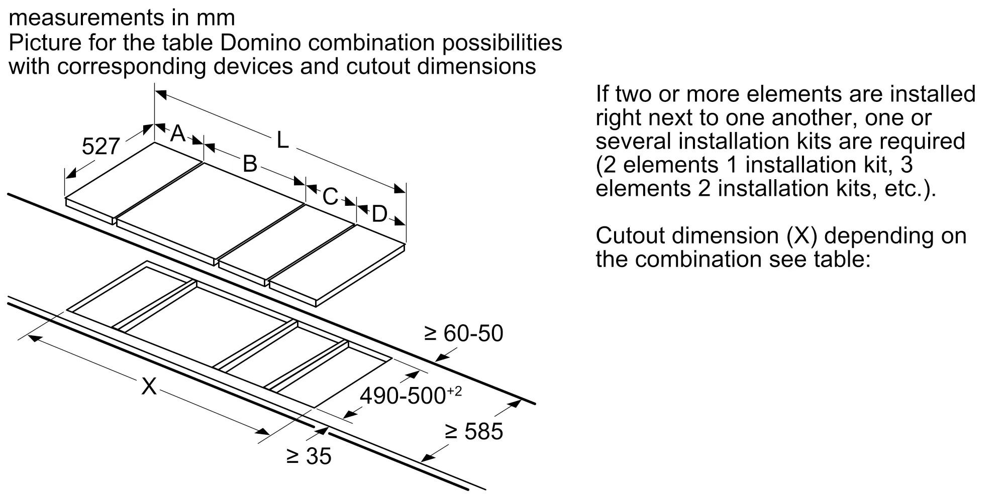 Газовая варочная панель Neff Domino N23TA19N0
