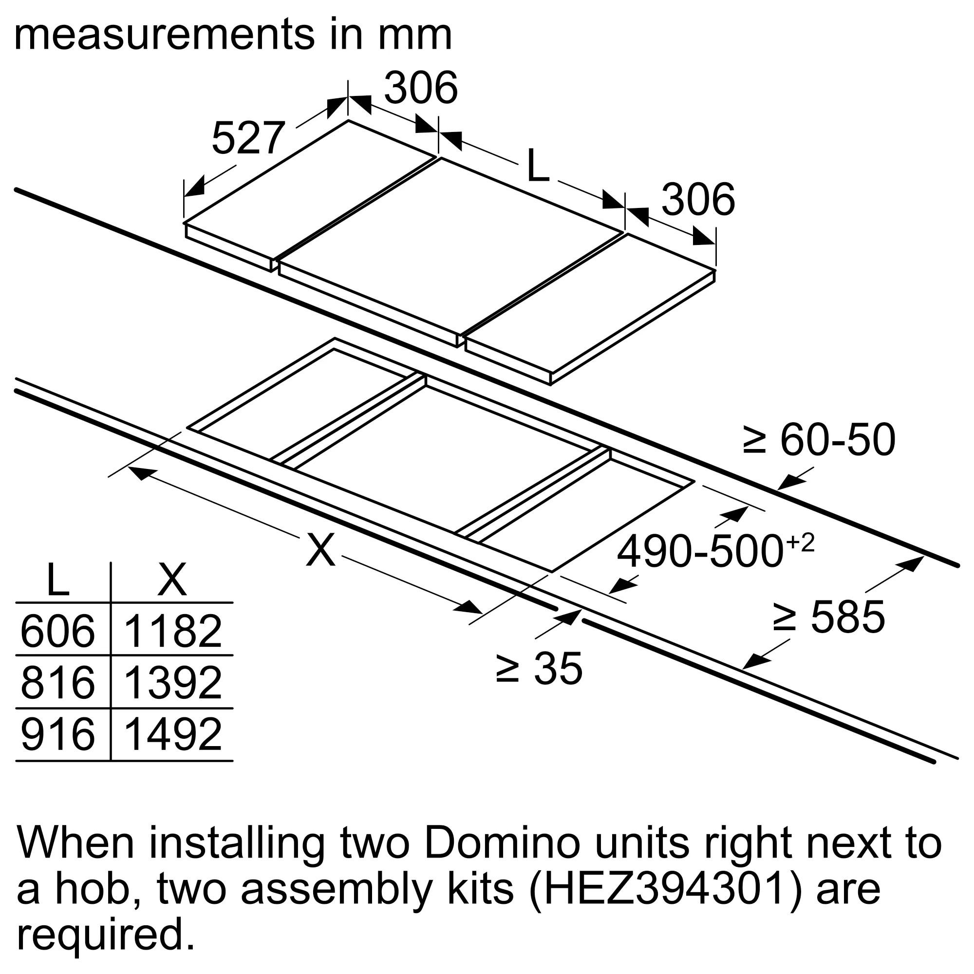 Газовая варочная панель Neff Domino N23TA29N0