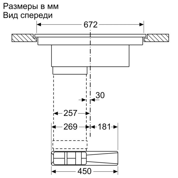 Индукционная варочная панель с интегрированной вытяжкой Neff T47PD7BX2